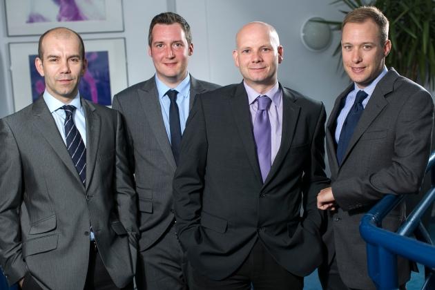 New quantity surveyors at Russells Construction (L-R) Mark Kenyon, Mark Turner, Jamie Oldland, Patrick Moors